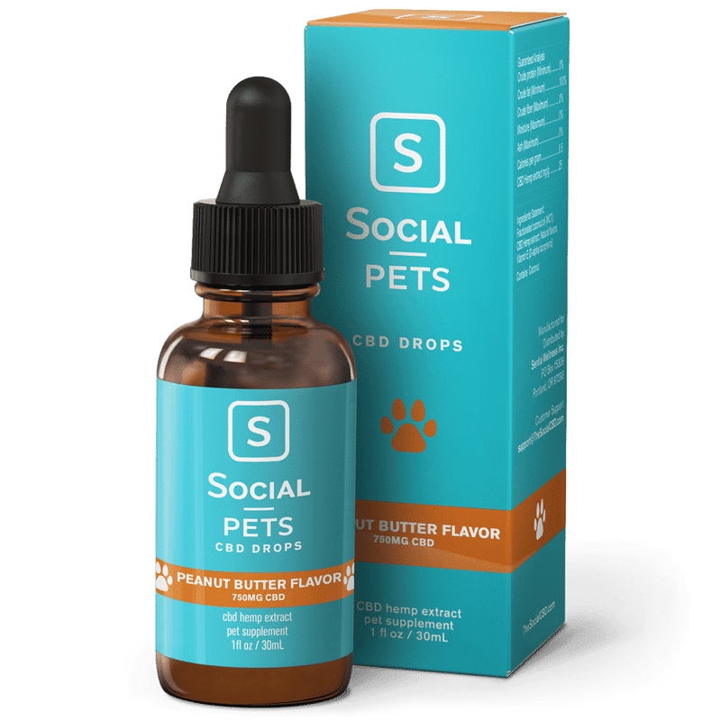 Social CBD : Pets Broad Spectrum CBD Drops 750mg
