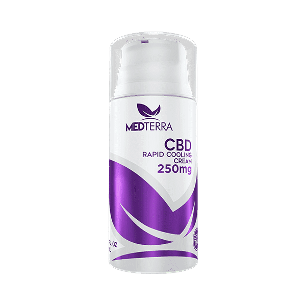 MedTerra : 250mg CBD Topical Cooling Cream 3.4 fl oz