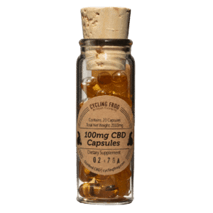 Lazarus Naturals : Cycling Frog 100mg - CBD Capsules - Full Spectrum