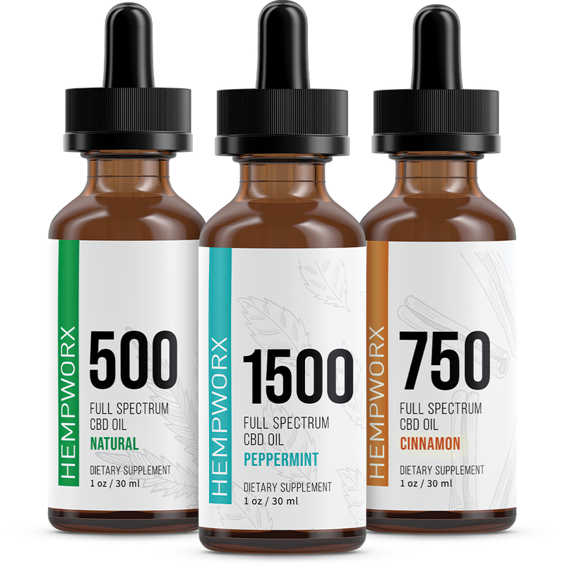 HempWorx : 750mg Full Spectrum : Peppermint Flavor