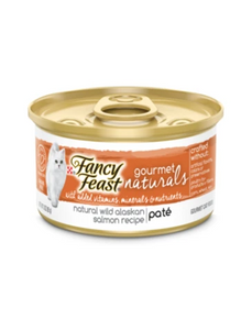 Fancy Feast Gourmet Naturals Wild Alaskan Salmon Pate Canned Cat Food 85g