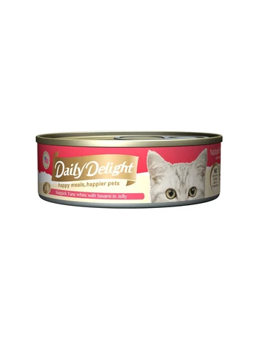 Daily Delight Jelly Skipjack Tuna White with Sasami Canned Cat Food 80g