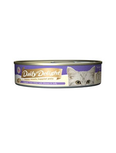 Daily Delight Jelly Skipjack Tuna White with Shirasu Canned Cat Food 80g