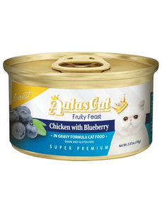 Aatas Cat Finest Fruity Feast Chicken with Blueberry in Gravy Wet Food 70g