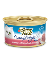 Load image into Gallery viewer, Fancy Feast Creamy Delights Salmon Feast Canned Cat Food 85g