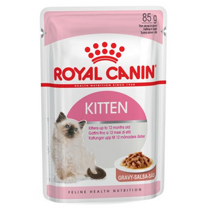 (1 box of 12) Royal Canin Feline Health Nutrition Kitten In Gravy Wet Food 85g