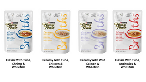 Fancy Feast Creamy Broths with Tuna, Chicken & Whitefish In Creamy Broth Cat Wet Food 40g