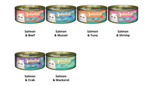 Load image into Gallery viewer, Aatas Cat Savory Salmon & Tuna in Gravy Cat Wet Food 80g