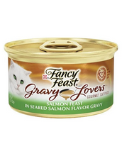 Load image into Gallery viewer, Fancy Feast Gravy Lovers Salmon Feast In Seared Salmon Flavour Gravy 85g