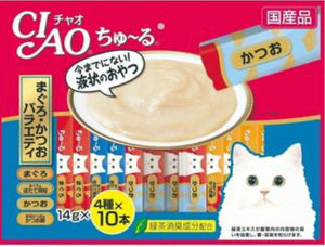 Ciao Chu Ru Tuna Maguro Jumbo Mix Cat Treat 14g (40pc/pack) (132)