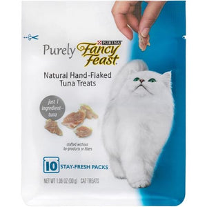 10% OFF: Fancy Feast Purely Natural Hand-Flaked Tuna Cat Treats 30g