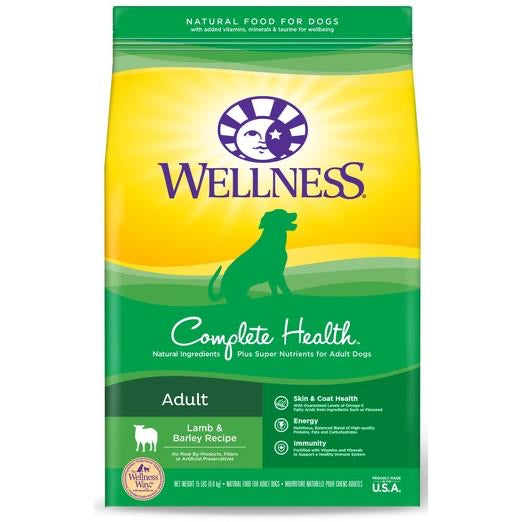 Wellness Complete Health Lamb & Barley Recipe Dry Dog Food 30lbs