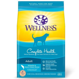 Wellness Complete Health Whitefish & Sweet Potato Dry Dog Food 30lbs