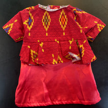 Load image into Gallery viewer, Cats Red Batik Dress Size XS