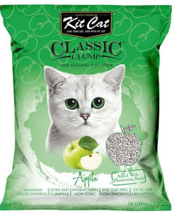 Kit Cat Classic Clump Apple Clay Cat Litter 10L
