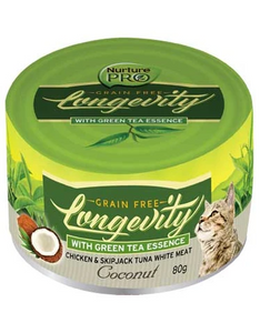 Nurture Pro Longevity Chicken & Skipjack Tuna White Meat with Coconut Cat Canned Food 80g