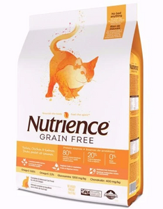 Nutrience Grain Free Turkey, Chicken & Herring Dry Cat Food (2 Sizes Available)