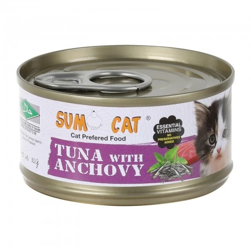 Sumo Cat Tuna with Anchovy Cat Canned Food 80g