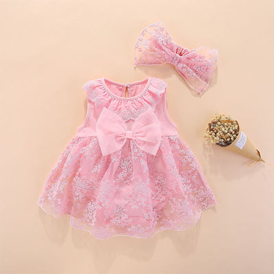 2-piece Dress & Headband for Baby Girl Wholesale Children's Clothing - Riolio
