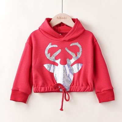 Deer Pattern Sweatshirts for Toddler Girl Wholesale children's clothing - Riolio