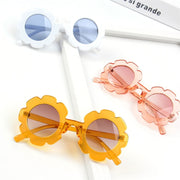 Flower Pattern Sunglasses Wholesale Light Pink Free size