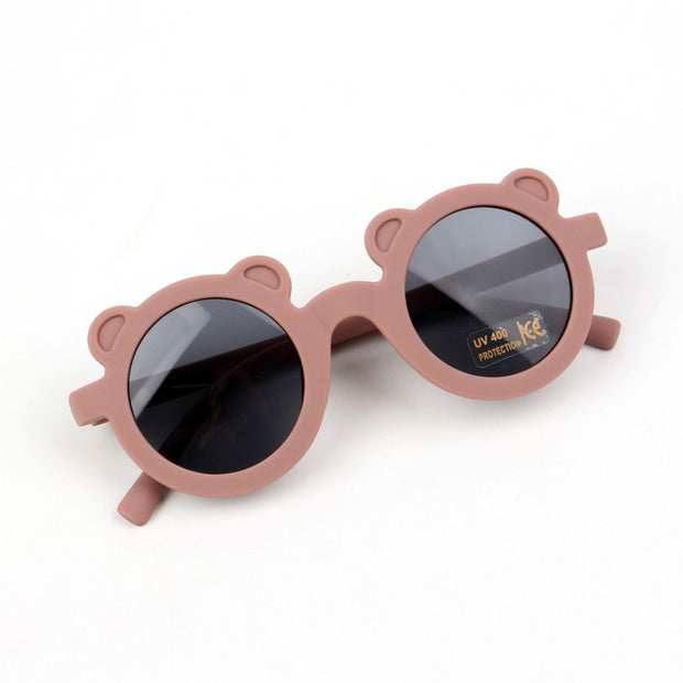 Fashion Round Frame Sunglasses Wholesale Light Pink Free size