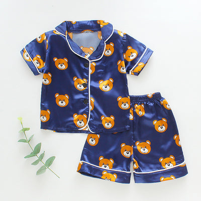 2-piece Animal Pattern Pajamas for Toddler Boy - Riolio