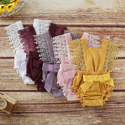 Baby Girl Lace Bodysuit Wholesale Children's Clothing White 0-3 Months