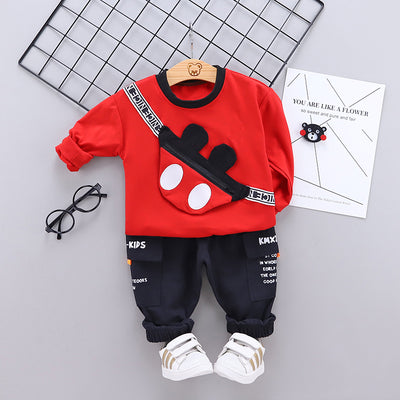 2-piece Cartoon Design Sweatshirts & Pants for Toddler Boy Wholesale children's clothing - Riolio