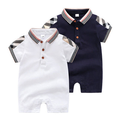 Color-block Plaid Jumpsuit for Baby Children's clothing wholesale - Riolio