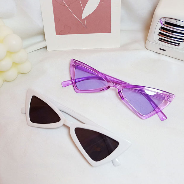 Toddler Triangle Sunglasses Wholesale Children's Clothing White Free size