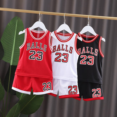 2 Pieces Basketball Tank & Shorts for Toddler Boy Wholesale children's clothing - Riolio