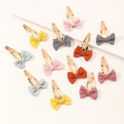 12-pieces Cute Bow Hair clip For Girls Wholesale children's clothing - Riolio