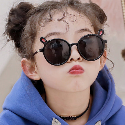 Bear Ears Sunglasses Wholesale Children's Clothing Pink Free size