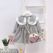 Toddler Girl Cute Plaid Dress with Bag Wholesale Children's Clothing - Riolio