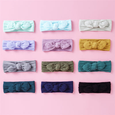 Baby Bow Wide Hair Band Wholesale Children's Clothing Blue Free size