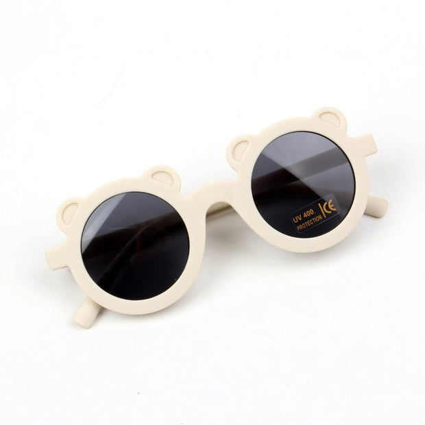 Fashion Round Frame Sunglasses Wholesale Beige Free size