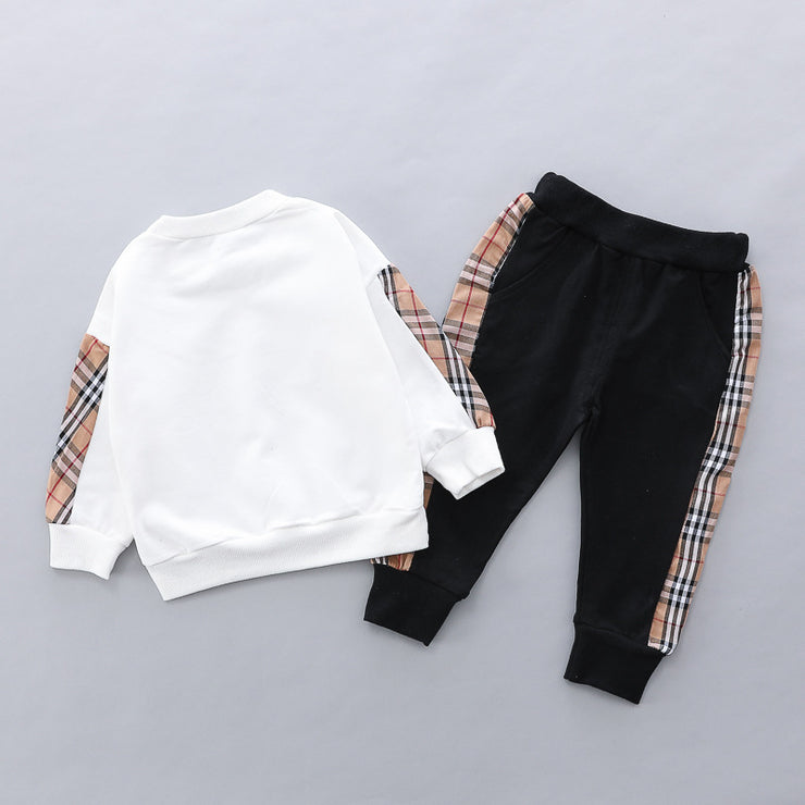 2-piece Plaid Pullover & Pants for Toddler Boy Children's clothing wholesale - Riolio