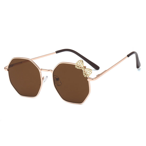 Girls Fashion Bow Metal Sunglasses Wholesale