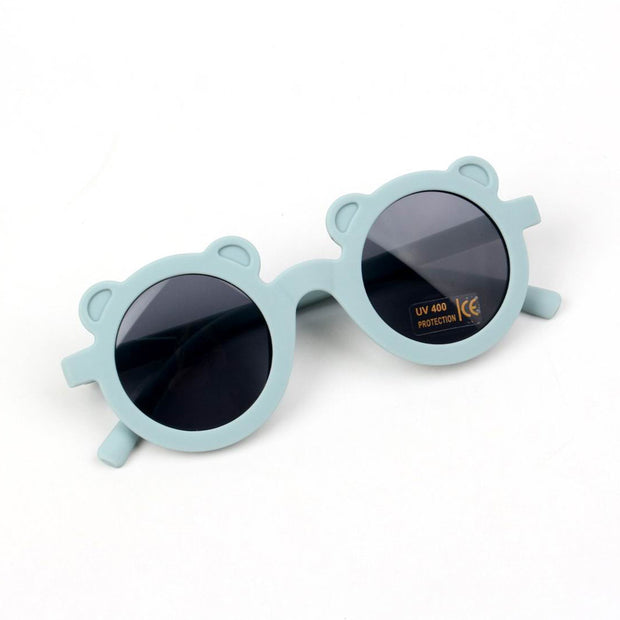 Fashion Round Frame Sunglasses Wholesale Bluish Grey Free size