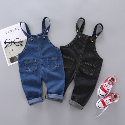 Simple Solid Color Imitation Jeans For Children Wholesale children's clothing - Riolio