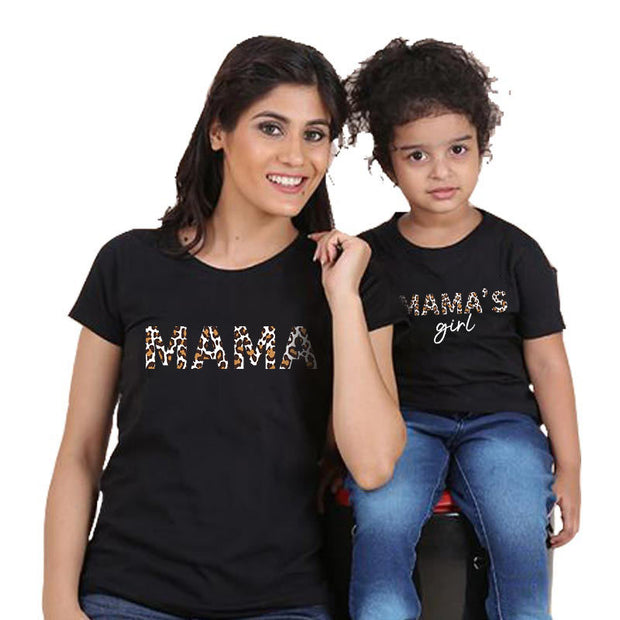 Parent-child Letter Pattern Mother Baby Clothes Wholesale Children's Clothing Black Mom: XXL
