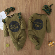 2-piece Letter Pattern Jumpsuit & Hat for Baby Wholesale children's clothing - Riolio