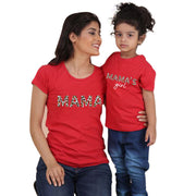 Parent-child Letter Pattern Mother Baby Clothes Wholesale Children's Clothing Red Mom: XXL