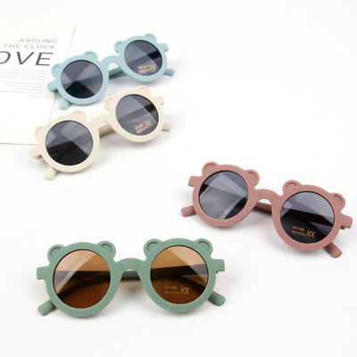 Fashion Round Frame Sunglasses Wholesale Brown Free size