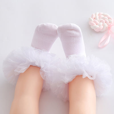 Ruffle Knee-High Stockings Wholesale children's clothing - Riolio