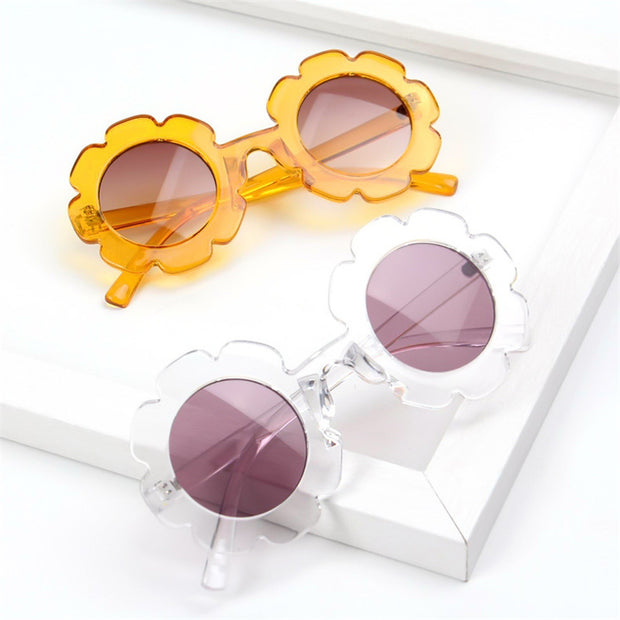 Flower Pattern Sunglasses Wholesale White Free size