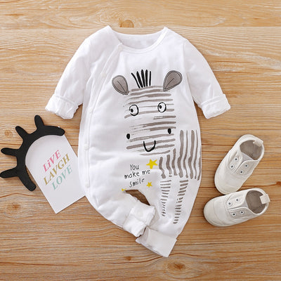 Zebra Stripe Print Jumpsuit for Baby Boy Wholesale children's clothing - Riolio