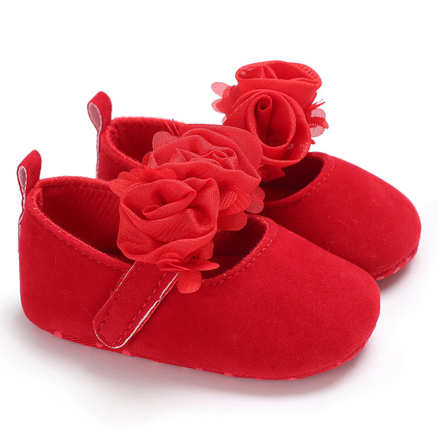 Solid Flower Decor Prewalker for Baby Girl Wholesale children's clothing - Riolio