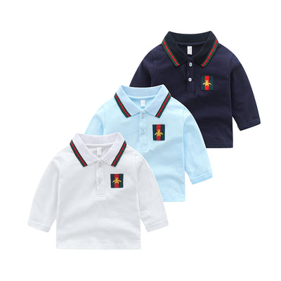 Solid Stripes Long Sleeve T-shirt for Toddler Boy Wholesale children's clothing - Riolio